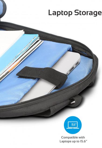 Promate Alpha BP 15.6 Laptop Bag Black | Laptop Bags | MS