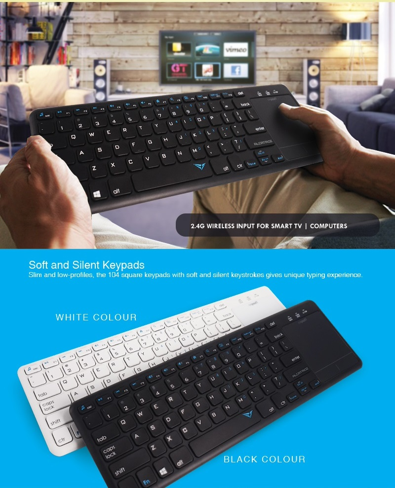 Alcatroz AirPad 1 Wireless Keyboard with Touchpad Black