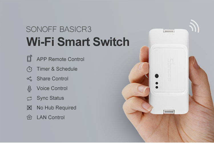 Sonoff Basic R3 10A Wifi Smart Switch->Relay Switches