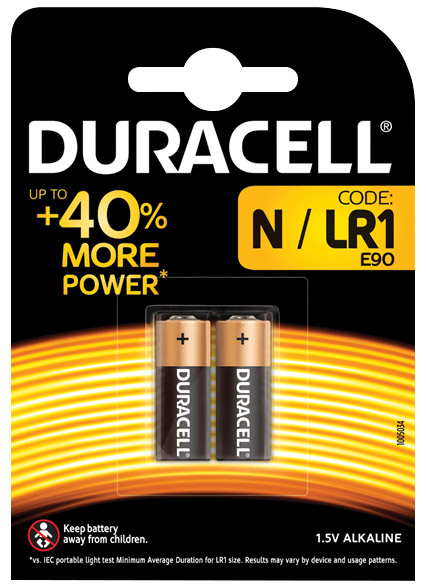 Duracell Alkaline Battery N/LR1 2-pack 656.987UK