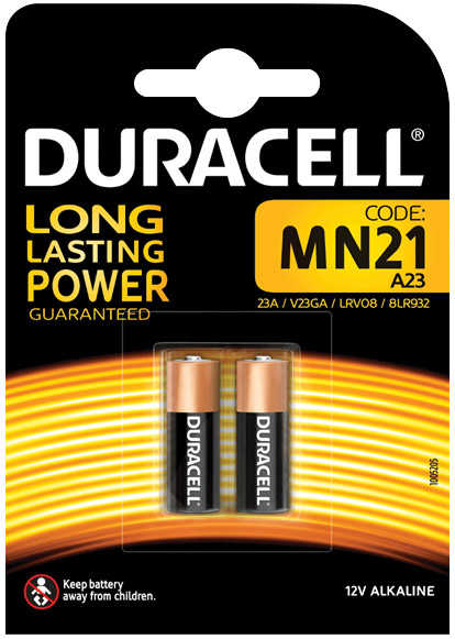 Duracell Alkaline Battery MN21/23AE 2-pack 656.988UK