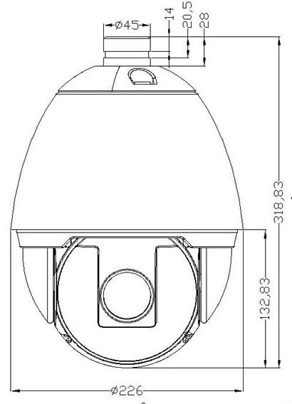 Open Box Safer Sf 900g Ahd2218x S2 Ahd Ptz Mp 18x Zoom Analog