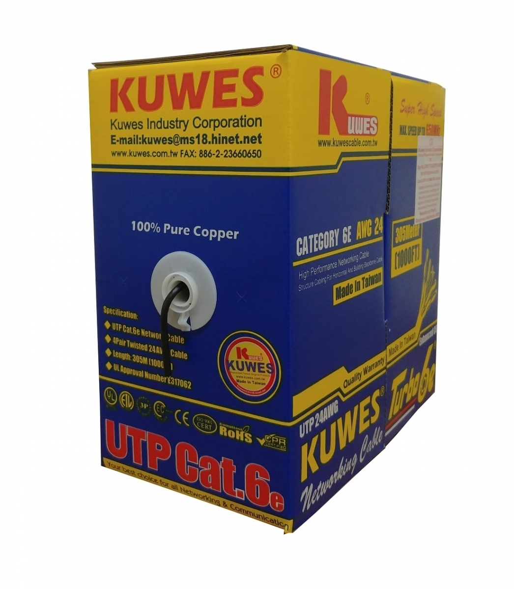 Kuwes CAT6 TURBO6E OUTDOOR Pure Copper Cable 24AWG 305m