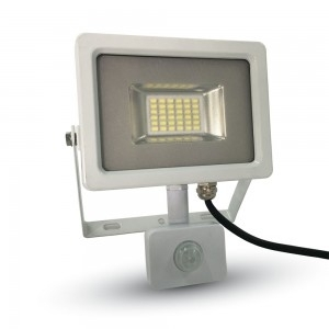 V-TAC 5750 LED Floodlight w/ Sensor 20W IP65 Cool White White Body