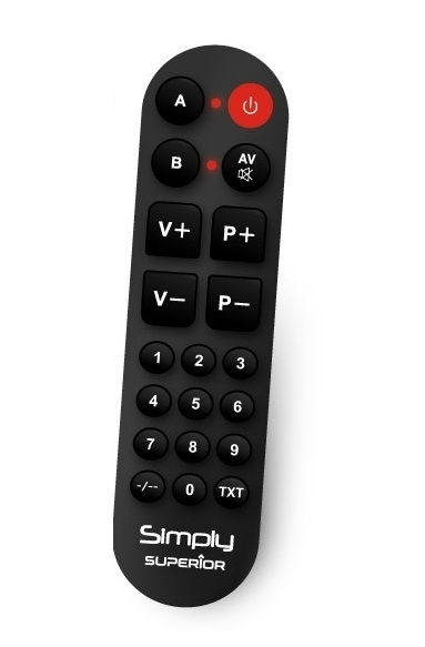 Superior SimplyNumeric Hospitality TV Learning Remote Control