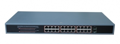 DigitMX POE-G262 26-Port 24GPOE + 2SFP Gigabit 370W
