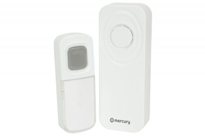 Mercury Wireless W/Proof Doorbell with Portable Chime 350.295UK