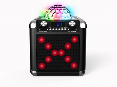 iDance Singcube BC100L Portable Speaker USB/BT/FM/DiscoBall