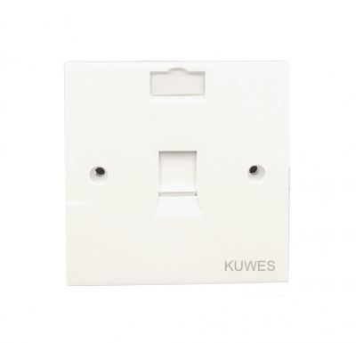 Kuwes UK Single Outlet Faceplate 86x86mm