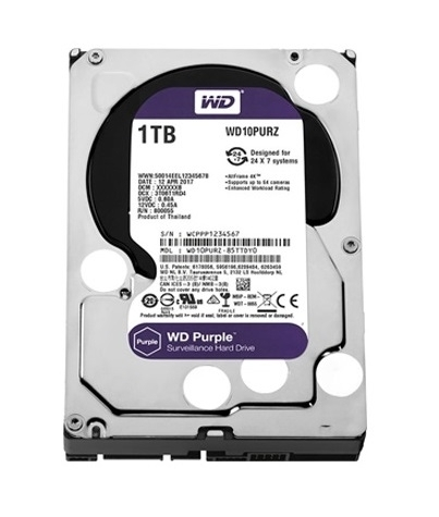 Western Digital 1TB HDD SATA 3.5 CCTV Purple Series