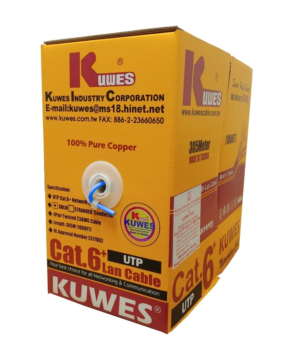 Kuwes CAT6 FASTCAT6+ UTP Pure Copper 23AWG 305m Blue