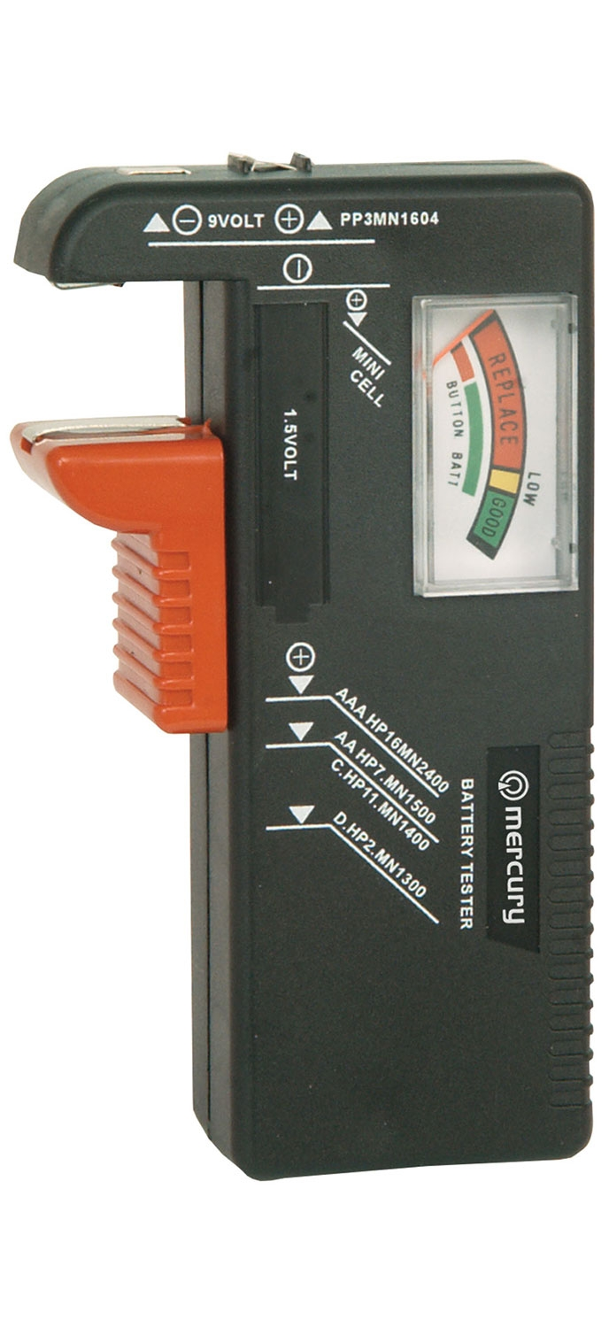 Mercury Universal Analogue Battery Tester 600.098UK