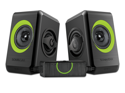 Sonicgear Quatro2 2.0 USB Powered PC Speakers Green