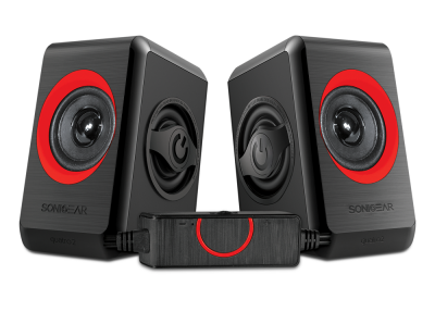 Sonicgear Quatro2 2.0 USB Powered PC Speakers Red