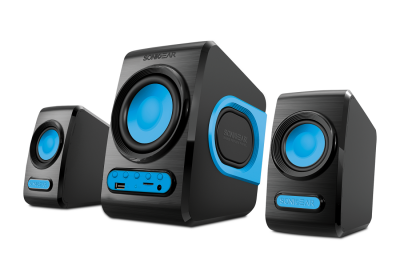 Sonicgear QuatroV 2.1 USB Powered PC Speakers USB/SD/FM Turquila