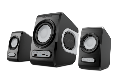 Sonicgear QuatroV 2.1 USB Powered PC Speakers USB/SD/FM Grey