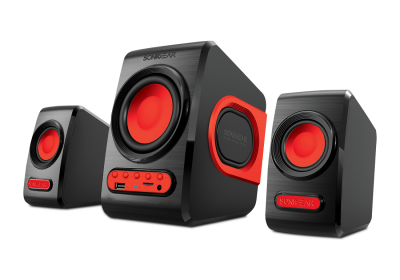 Sonicgear QuatroV 2.1 USB Powered PC Speakers USB/SD/FM Red