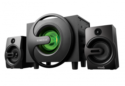 SonicGear Titan5 2.1 PC Speakers BT/USB/FM/LED