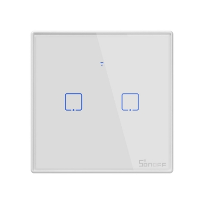 Sonoff T2 UK 2C WiFi Smart Wall Touch Switch White
