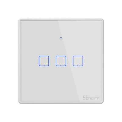 Sonoff T2 UK 3C WiFi Smart Wall Touch Switch White