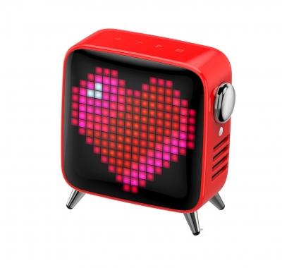 Divoom Tivoo Max Pixel-Art Bluetooth Speaker Red