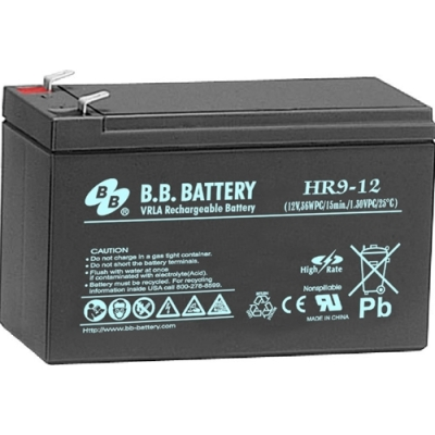 BB HR9-12FR Lead Acid Battery 12V 9A