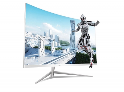 Armaggeddon PIXXEL+PRO PC24HD  Curved R2500 Monitor White