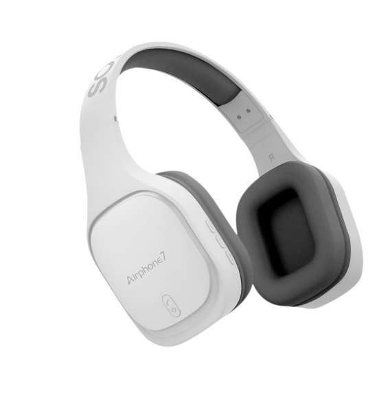 SonicGear AirphoneVII Bluetooth Headphones White Gray