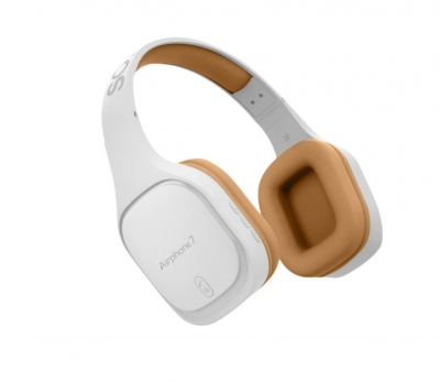 SonicGear AirphoneVII Bluetooth Headphones White Gold