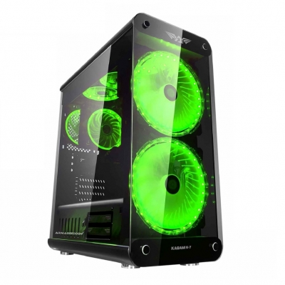 Armaggeddon  Kagami K7 Full ATX Gaming Case Black With 2 x 200mm Fans With 7 Colour FX