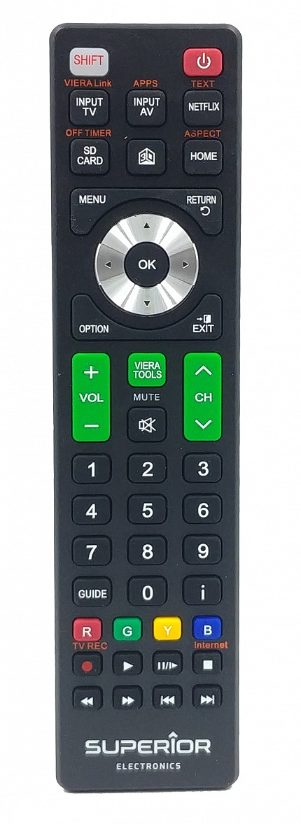 Superior Panasonic Smart TV Replacement Remote Control