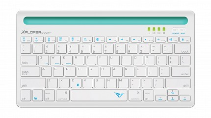 Alcatroz Xplorer Dock1 Bluetooth Keyboard White & Turquoise
