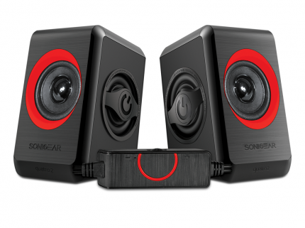 Sonicgear Quatro2 2.0 USB Powered PC Speakers Red 12W