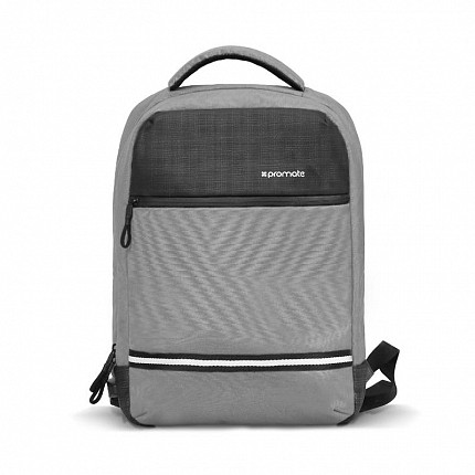 Promate ExplorerBP 13 Laptop Backpack USB Grey