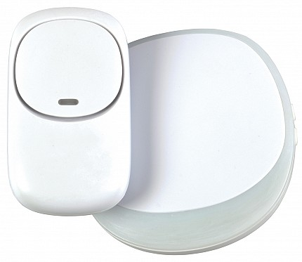 Mercury Wireless Plug-in Doorbell White 350.310UK