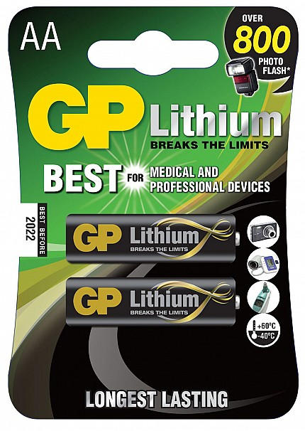 GP Lithium Battery AA pack of 2 656.333UK