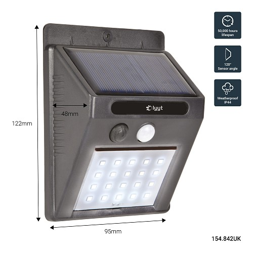 Lyyt 20 Led Solar Security Light Motion