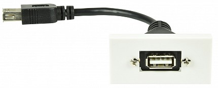AV:Link Wall Plate Module USB 2.0 122.530UK