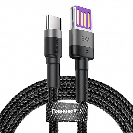 Baseus Cafule HW Type-C Cable 5A 1m Grey-Black
