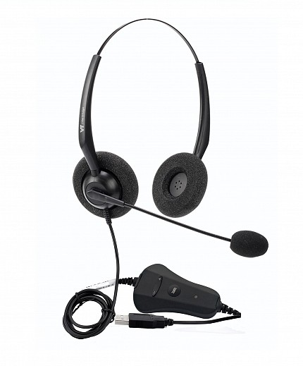 VT 1000-OMNI Dual-Ear PC Headset USB