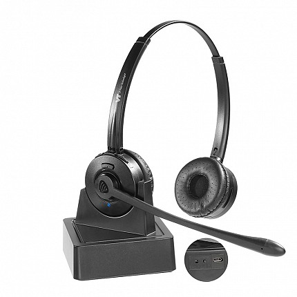 VT 9702BT Dual-Ear Wireless BT Headset PC, Deskphone
