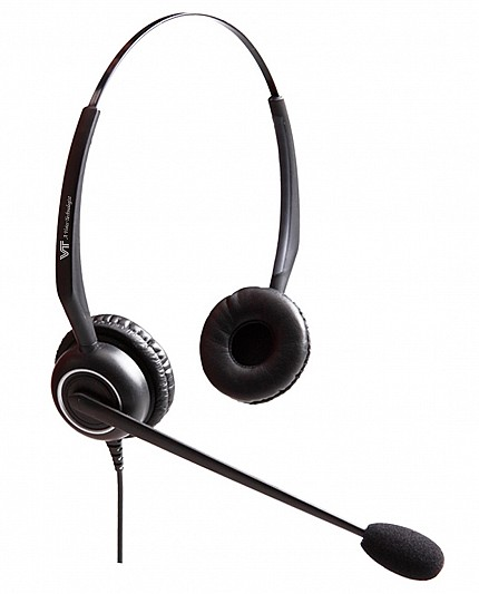 VT 5000UNC Dual-Ear Noise Cancelling PC Headset QD USB